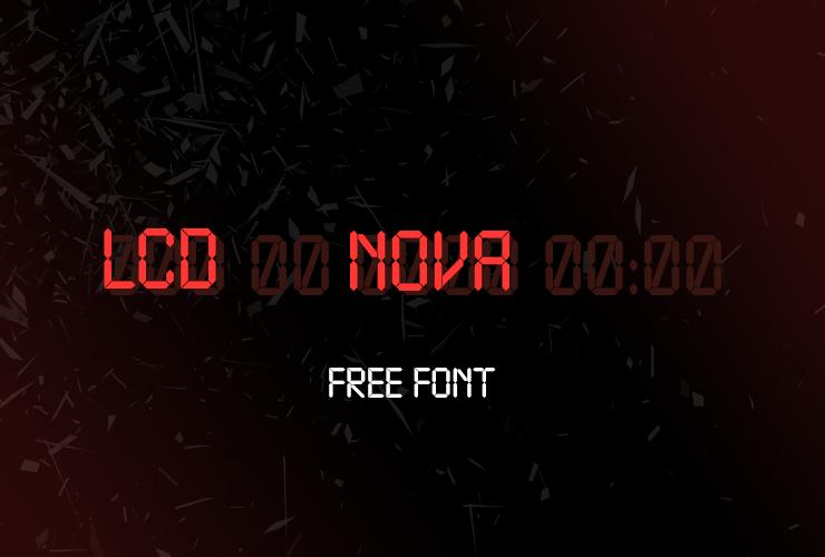 Шрифт LCD Nova 1